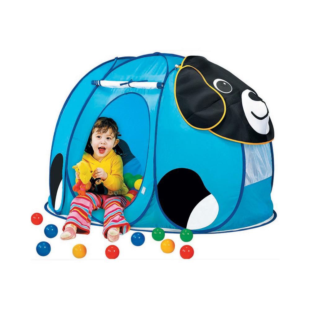 Купить 668, CALIDA Дом + 100 шаров СОБАЧКА (130х90х85см), Китай, Детские игровые домики и палатки