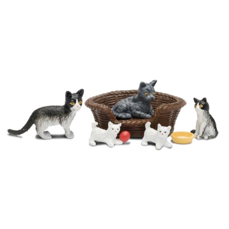 Купить LUNDBY Набор животных Кошачья семья [LB_60805700], 100% Пластик, Игровые наборы и фигурки для детей
