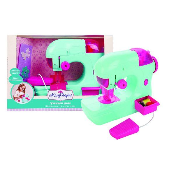 Купить MARY POPPINS Швейная машинка электрическая Умный дом [453152], Бирюзовый, пластмасса, Детские кухни и бытовая техника