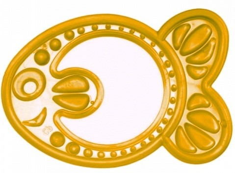 Купить CANPOL Прорезыватель мягкий Рыбка , цвет: желтый [250930416], Желтый, термопластичная резина, Погремушки и прорезыватели
