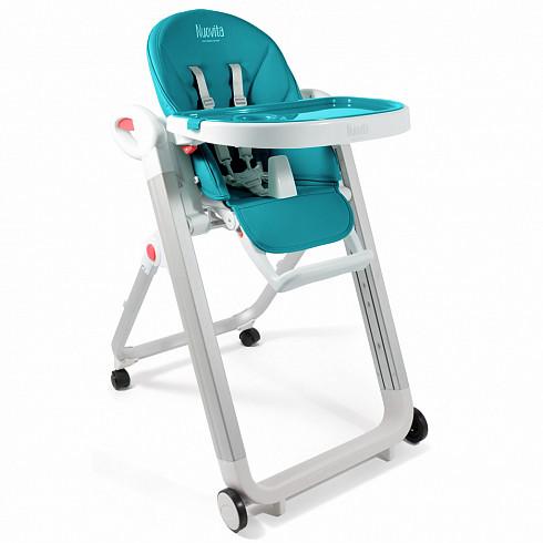 Купить NUOVITA Стульчик для кормления Futuro Bianco , цвет бирюзовый [B2 325], Бирюзовый, пластик, Металл, Стульчики для кормления малышей