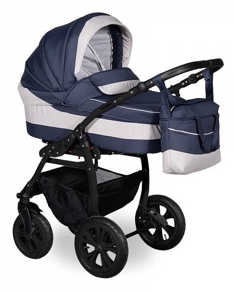 Купить INDIGO Коляска 2-в-1 Indigo Sydney 17 (цвет: синий/светло-серый) [УТ0008036], серый, синий, пластик, Металл, ткань, Детские коляски