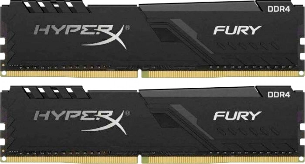 Оперативная память DIMM 16Гб DDR4 3600МГц Kingston HyperX Fury Black (HX436C17FB3K2/16) PC-28800, 2x 8Гб KIT фото