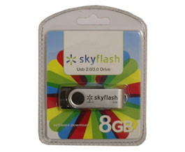 Флеш диск 8Gb USB2.0/3.0 Flash Drive Skyflash Black