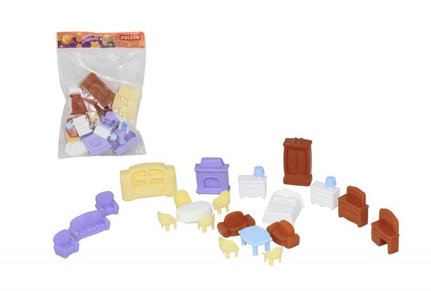 Купить ПОЛЕСЬЕ Набор мебели для кукол №5 (21 элемент) [49360], Мебель для кукол