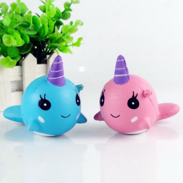 Купить JUNFA TOYS Мягкая игрушка-антистресс Кит , 6 см [SQ-153], Для мальчиков и девочек, Игрушки-антистресс