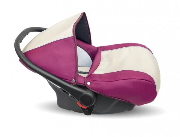 Купить CAMARELO Автокресло Sevilla Spicial Collection Carlo typu Kite (цвет: SE-27) [SE-27], бордовый, молочный, Полистирол, полипропилен, Детские автокресла