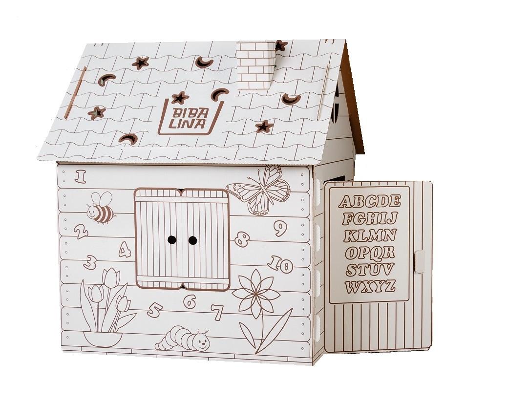 Купить Картонный домик BIBALINA BBL003-001 Colouring play-house, Для мальчиков и девочек, Россия, Детские игровые домики и палатки