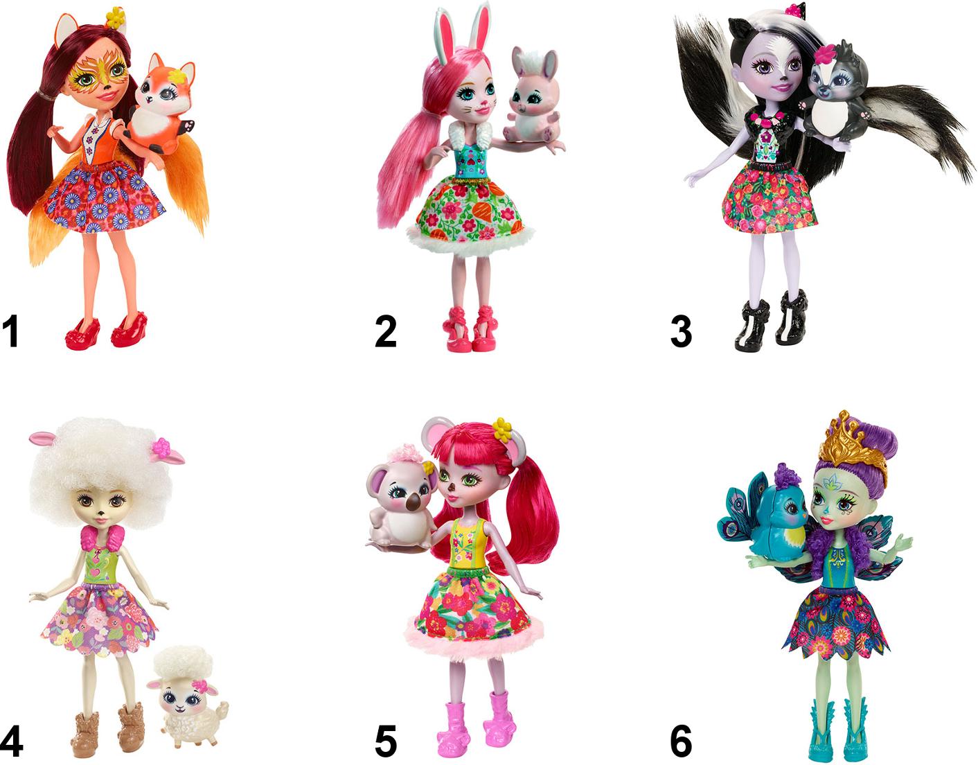 Купить Enchantimals Кукла с любимой зверюшкой [DVH87], Mars, Для девочек, Куклы и пупсы