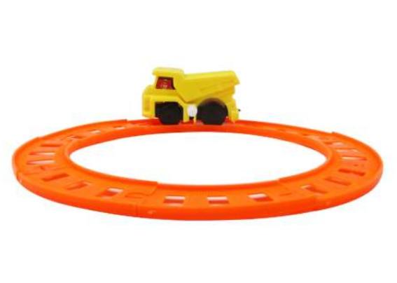 Купить 1 TOY Заводная машинка с мини-треком Мелочь, а приятно , 15, 5x11x2, 5 см [Т59586], пластик, Детские парковки и гаражи
