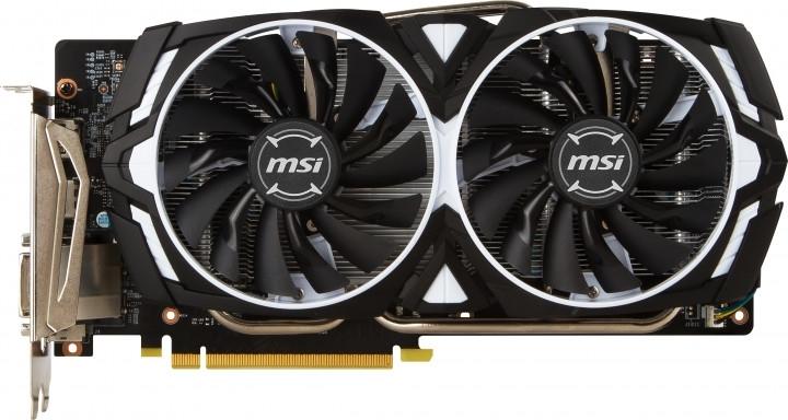 Видеокарта MSI GeForce GTX 1060 1544MHz PCI-E 3.0 3072MB 8008MHz 192 bit DVI 2xHDMI HDCP GTX 1060 ARMOR 3G OCV1 фото
