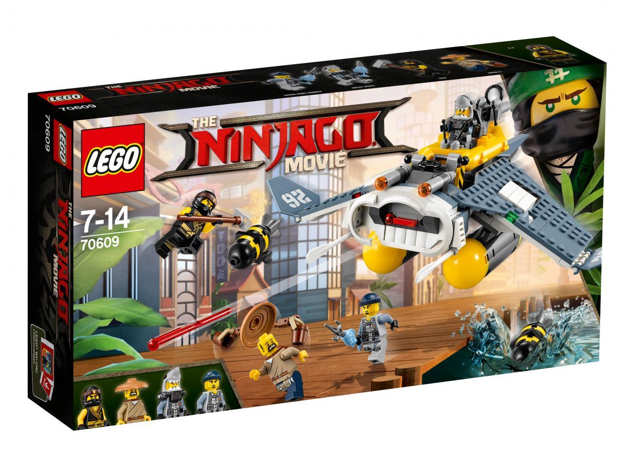 Конструктор LEGO 70609 Ninjago Бомбардировщик Морской дьявол , пластик, Для мальчиков и девочек, Венгрия, Конструкторы  - купить со скидкой