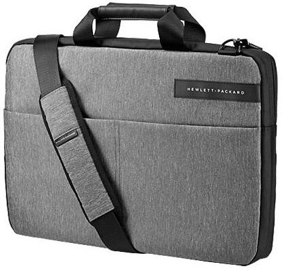 Купить Сумка для ноутбука 14 HP Signature Slim Topload черный/серый синтетика L6V67AA, Горизонтальная сумка, Черный