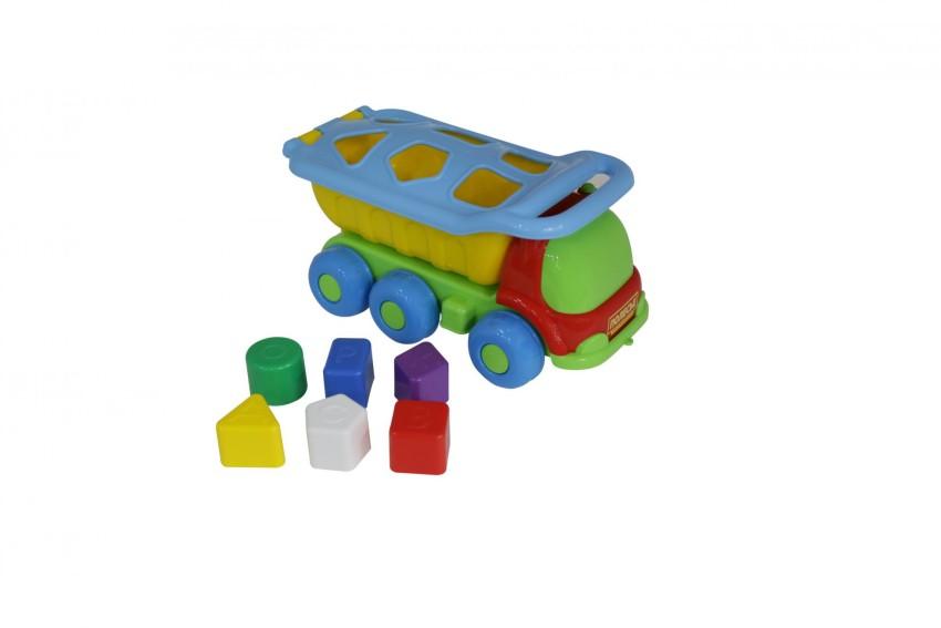 Купить ПОЛЕСЬЕ Автомобиль-самосвал логический Кеша [46529 ], Каталки и качалки для малышей