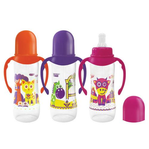 Купить LUBBY Бутылочка с ручками Lubby Русские мотивы с силиконовой соской, 240 мл [12018/11216], полипропилен, Таиланд, Бутылочки и ниблеры для малышей