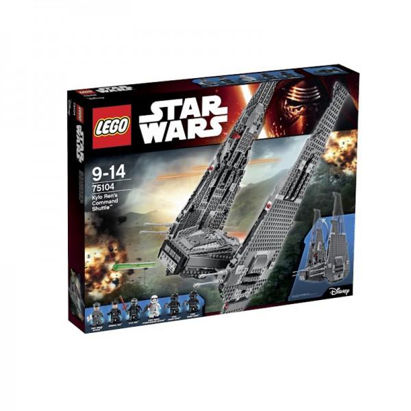 Купить LEGO Конструктор LEGO Star Wars. Командный шаттл Кайло Рена [75104], пластик, Конструкторы
