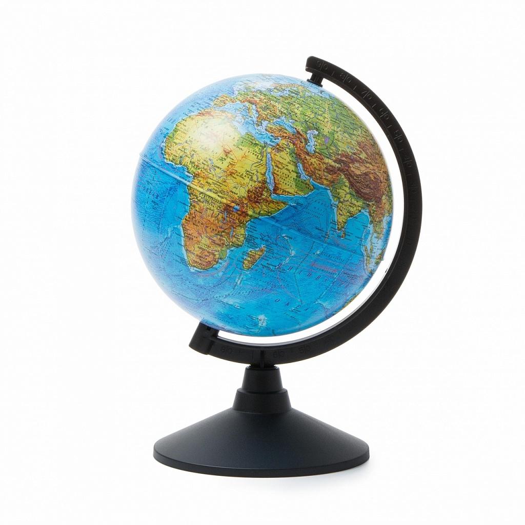Купить Глобус GLOBEN К012100007 Физический 210 Классик, пластик, Для мальчиков и девочек, Россия, Школьные глобусы