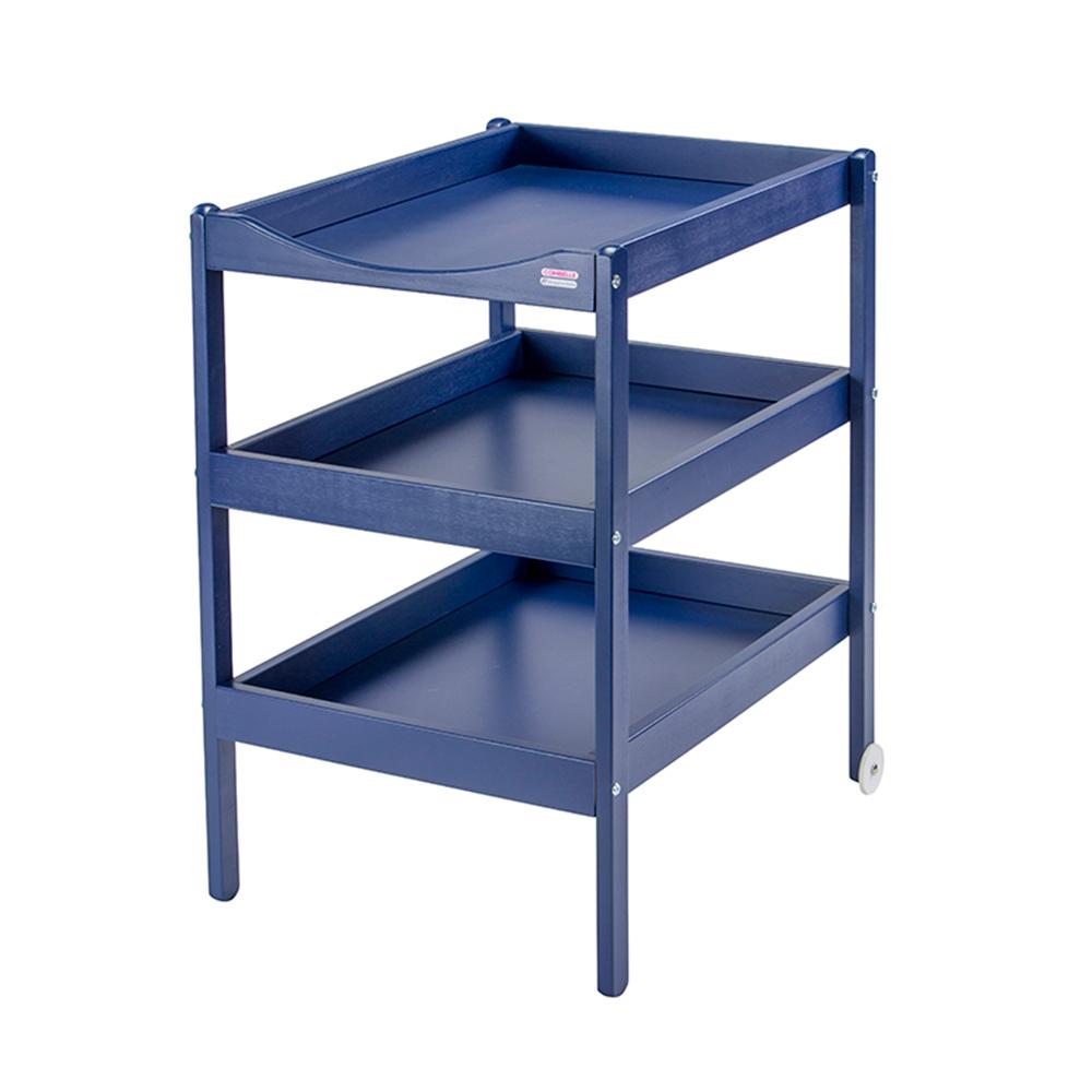 Купить 136, COMBELLE Столик для пеленания SUSIE (дерево) с 3-я полочками 52х82х87см Navy BLUE / Темно - синий, Франция, Пеленальные столики и доски для малышей