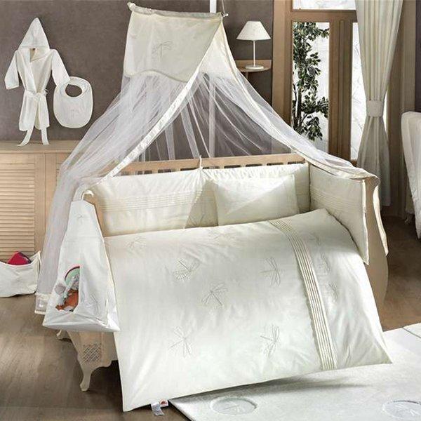 Купить KIDBOO Комплект постельного белья Vanilla Dreams (цвет: стандарт, 4 предмета) [00-0012932], белый, 100% полиэстер/ 100% хлопок, Для мальчиков и девочек, Постельное белье для малышей