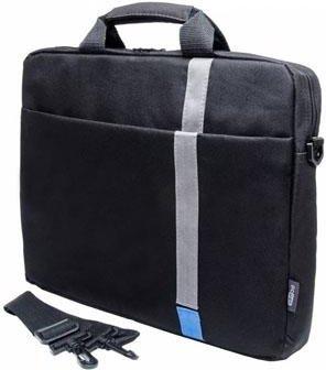 Купить Сумка PC PET PCP-1001BL 15.6 Polyester HQ Classic Toplader Front compartment Blue Patch Черный, Горизонтальная сумка