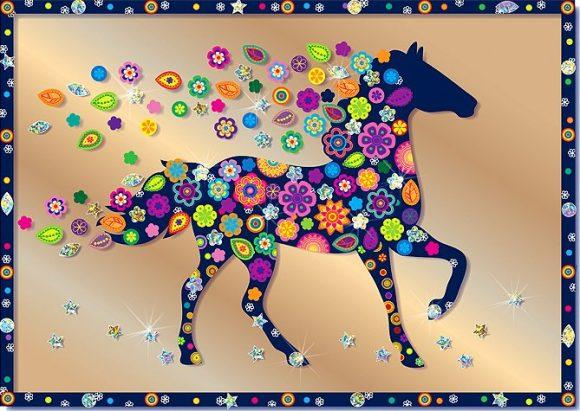 Купить КЛЕВЕР Набор для изготовления картины Клевер Конь , 21x29, 6 см, арт. АС 43-232 [АС 43-232], Наборы для создания украшений