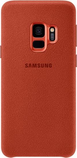 Купить Чехол (клип-кейс) Samsung для Samsung Galaxy S9 Alcantara красный (EF-XG960AREGRU), накладка, Красный, Китай