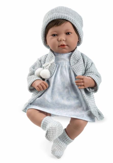 Купить MUNECAS ARIAS Кукла ARIAS , функциональная, в голубой одежде, 45 см [Т11113], Текстиль, винил, Для девочек, Испания, Куклы и пупсы