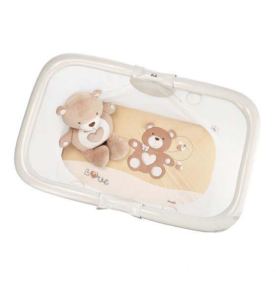 Купить BREVI Манеж развивающий Brevi Soft & play. My little bear (цвет: бежевый) [587-553], Бежевый, пластик, Металл, Текстиль, Италия, Манежи для малышей