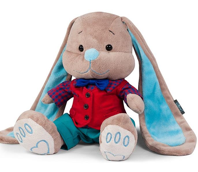 Купить SHANGHAI TS TOYS CO., LTD. Мягкая игрушка Jack&Lin Зайка красной жилетке , 25 см [JL-026-25-КСО], Текстиль, мех искусственный, фурнитура из пластмассы, Мягкие игрушки