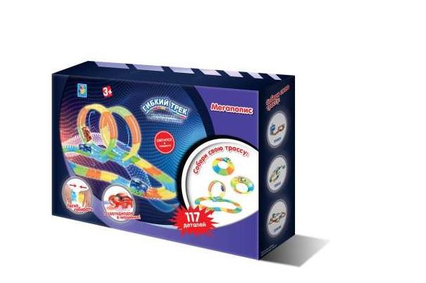 Купить 1 TOY Гибкий трек Мегаполис , 117 деталей [Т13198], мультиколор, пластик, Металл, Детские парковки и гаражи