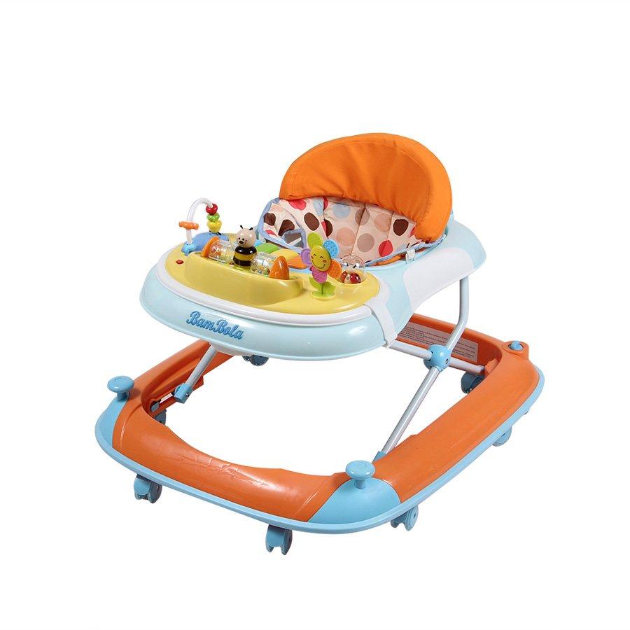 Купить W1121PA8, PITUSO Ходунки ПЧЕЛКА (8 силик.кол, игр муз пан, силик отбойник) ORANGE/Оранжевый, Китай, Ходунки и прыгунки для малышей