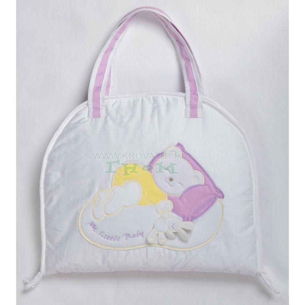 Купить 12352303, СДОБИНА Сумка для пеленания новорожденных Мой маленький друг фиолетовый [50.125], Пеленальные столики и доски для малышей