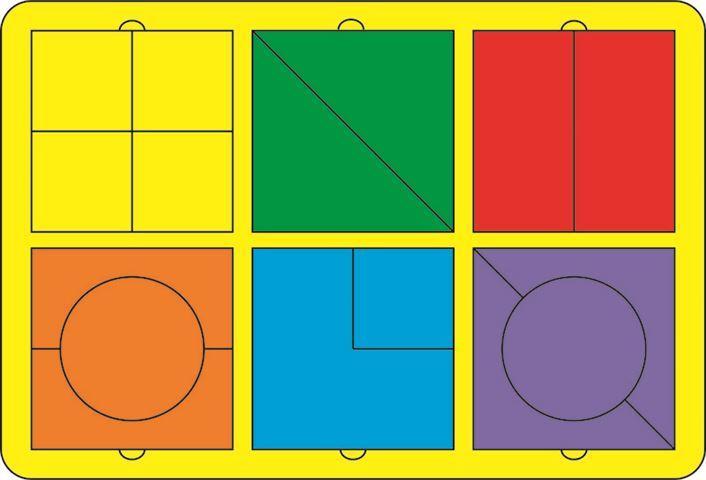 Купить Игра логическая Геометрические фигуры 3 , 14 деталей (14х14 см) [6301331], S+s toys, Дерево, Пазлы