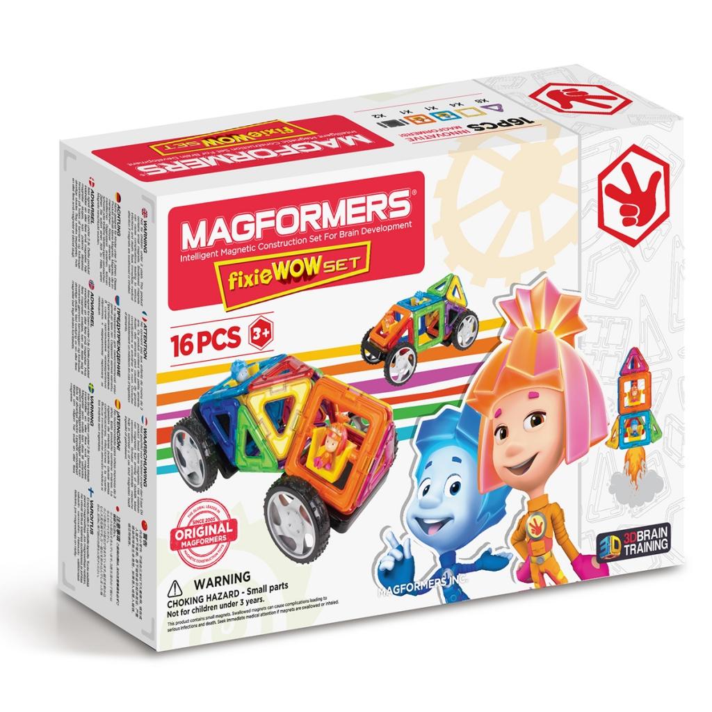 Купить Магнитный конструктор MAGFORMERS 770001 Fixie Wow set, пластик, магнит, Для мальчиков и девочек, Китай, Конструкторы