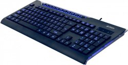 Клавиатура A4Tech KD-800L Black USB (Blue BackLight)