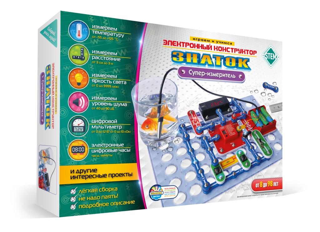 Купить Конструктор ЗНАТОК ZP 70694 Супер-измеритель, Знаток, Металл, пластик, Для мальчиков и девочек, Китай, Конструкторы