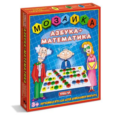 Купить СТЕЛЛАР Мозаика Азбука-математика , 110 деталей [1004], Россия, Мозаика для детей