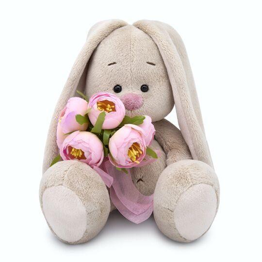 Купить ЗАЙКА МИ Мягкая игрушка Зайка Ми с букетом роз, 18 см [SidS-286], Зайка ми, Искусственный мех, Мягкие игрушки