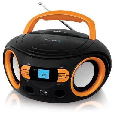 Магнитола BS15BT Черно-оранжевый USB/SD магнитола Bbk BS15BT че