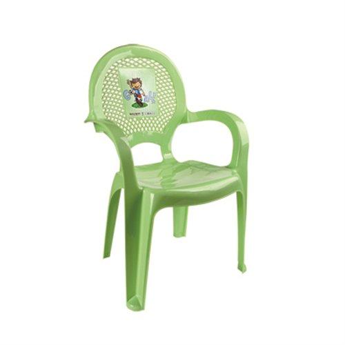 Купить DUNYA Детский стульчик с рисунком Салатовый [6205], Dunya plastik, Детские стулья и табуреты