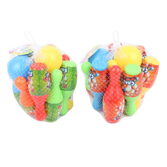 Купить НАША ИГРУШКА Набор для игры в боулинг, 16 см [3305B], Наша игрушка, Разноцветный, пластик, Спортивные игры и игрушки для улицы