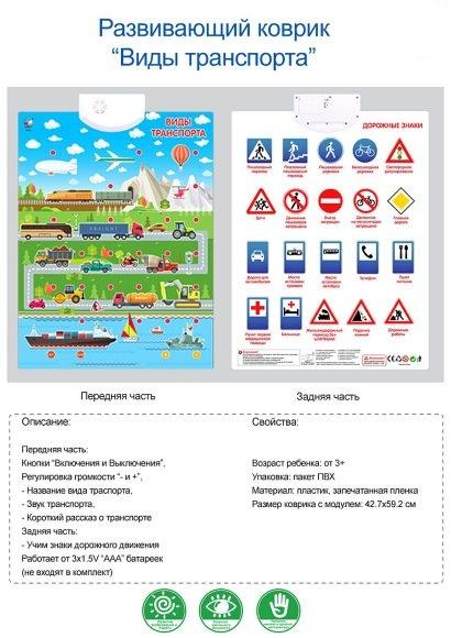 Купить F4?18, НАША ИГРУШКА Плакат Виды транспорта двухсторонний, 3 режима игры, регулир.громкости, батар.не вх.в компл. [F4-18], Shantou, пластик, картон, металл, Детские обучающие плакаты
