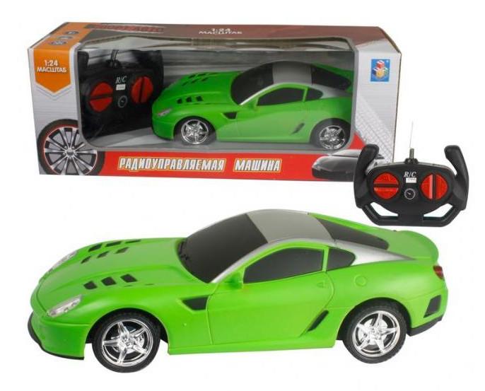 Купить 1 TOY Машина на радиоуправлении Спортавто , цвет: зеленый, [Т13848], пластик, Металл, Игрушки на радиоуправлении