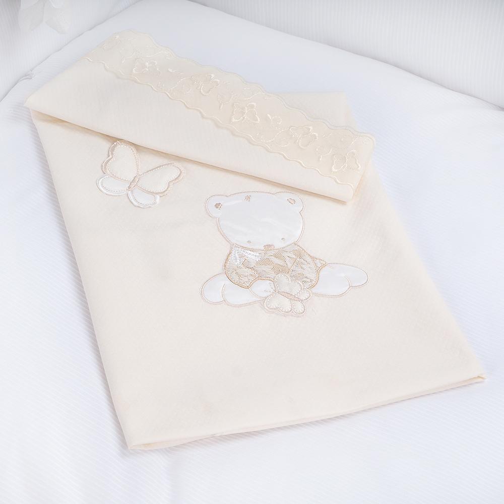 Купить PICCI Плед SISSI кремовый 73x83см [I5252-09], Италия, Покрывала, подушки, одеяла для малышей