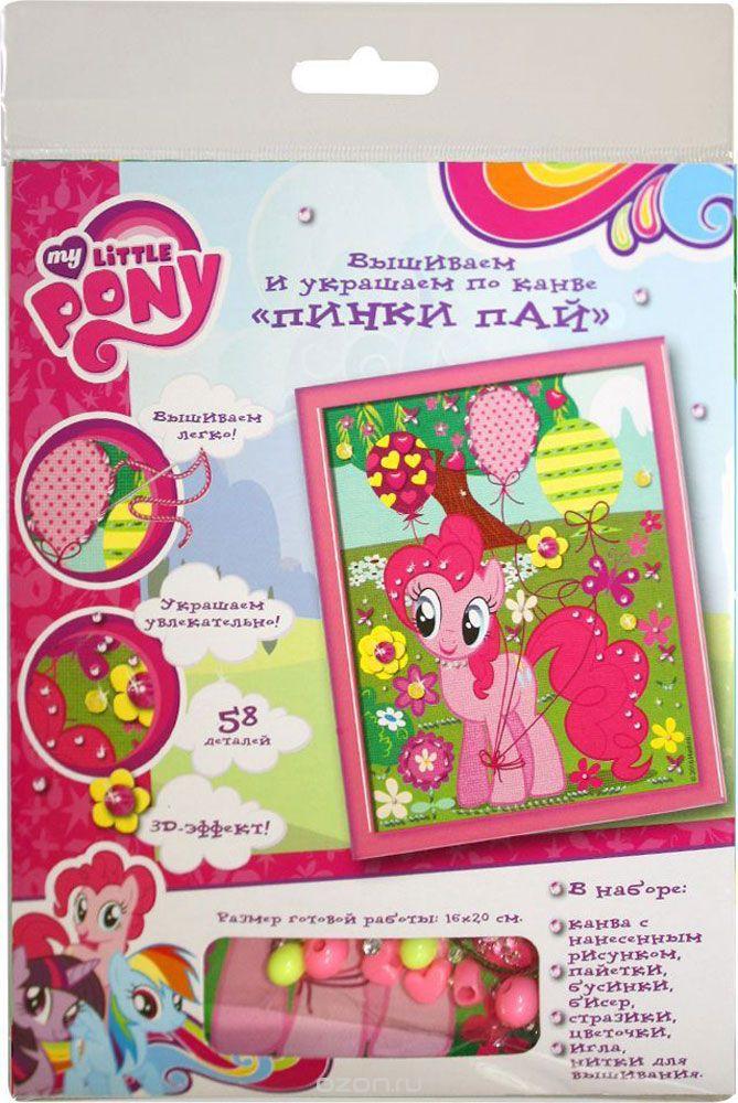Купить РОСМЭН Набор для вышивания и украшения по канве Пинки Пай, My Little Pony [32164], Китай, Товары для изготовления кукол и игрушек