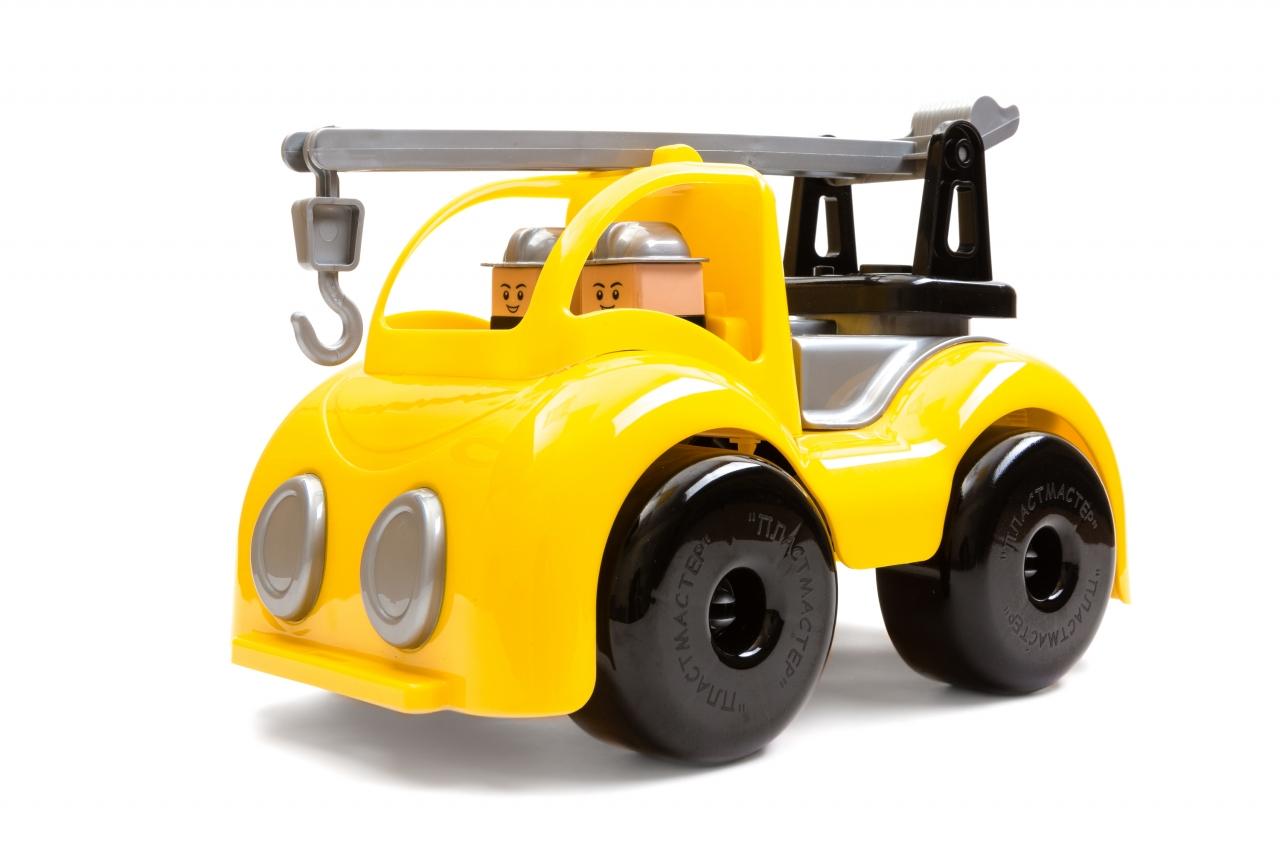 Купить Машина пластиковая ПЛАСТМАСТЕР 31125 Кран строительный, пластмасса, Для мальчиков, Россия, Игрушечные машинки и техника