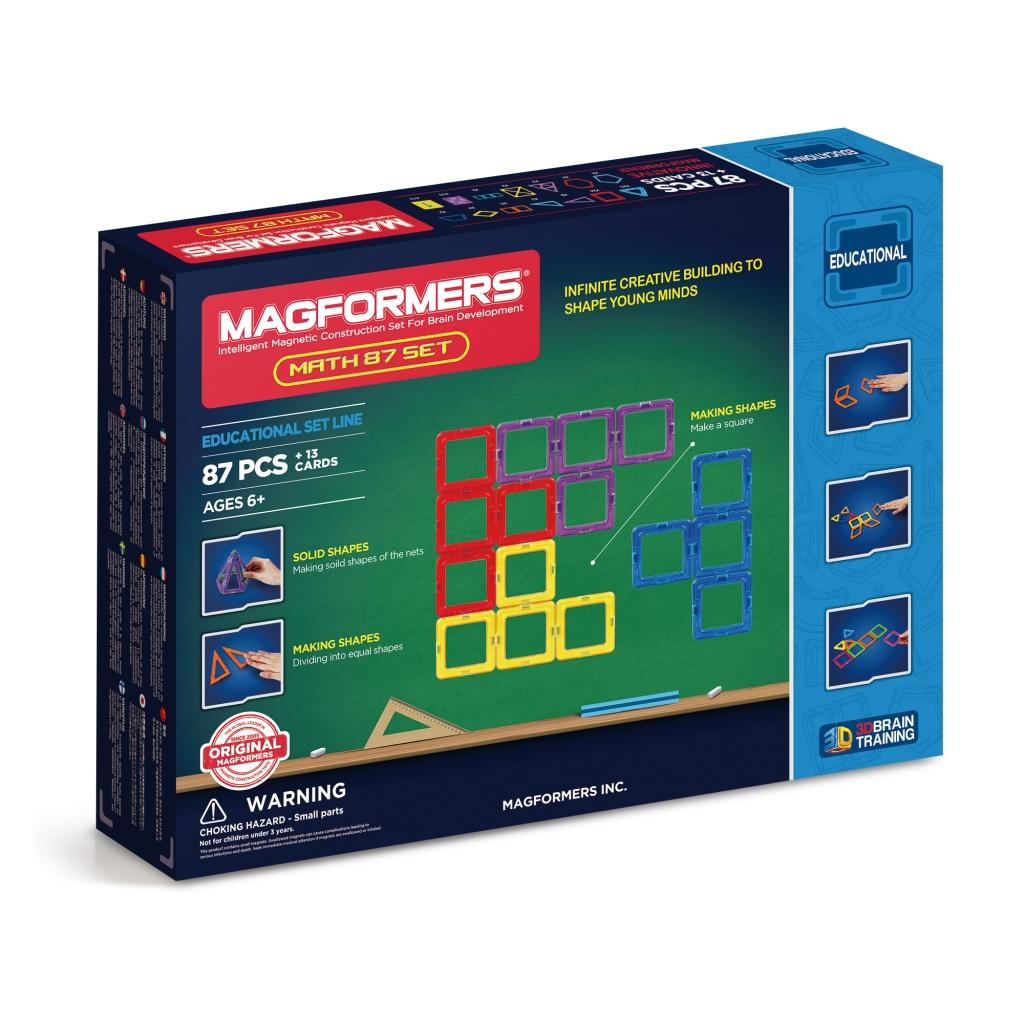 Купить Магнитный конструктор MAGFORMERS 711002 Увлекательная Математика (учебное пособие в комплекте), пластик, магнит, Для мальчиков и девочек, Китай, Конструкторы