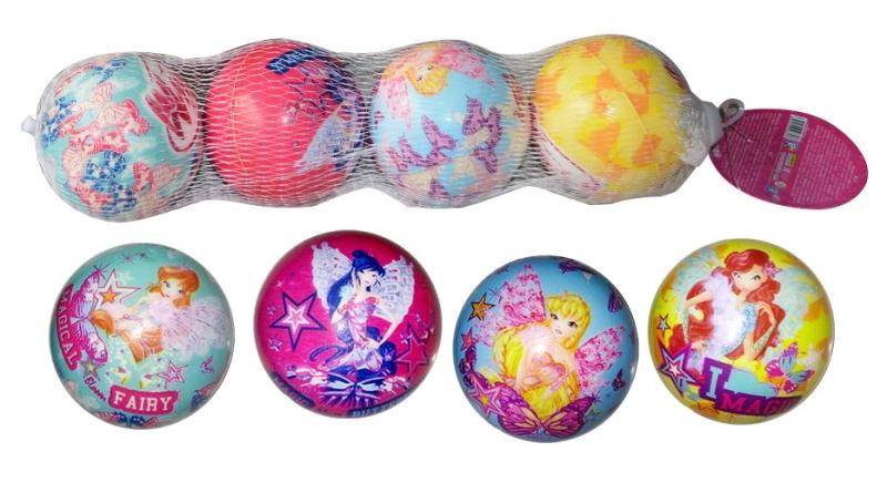 Купить 1 TOY Winx набор мячей с принтом, PU, 6см/4шт [Т59834], Для мальчиков и девочек, Детские мячи и прыгуны