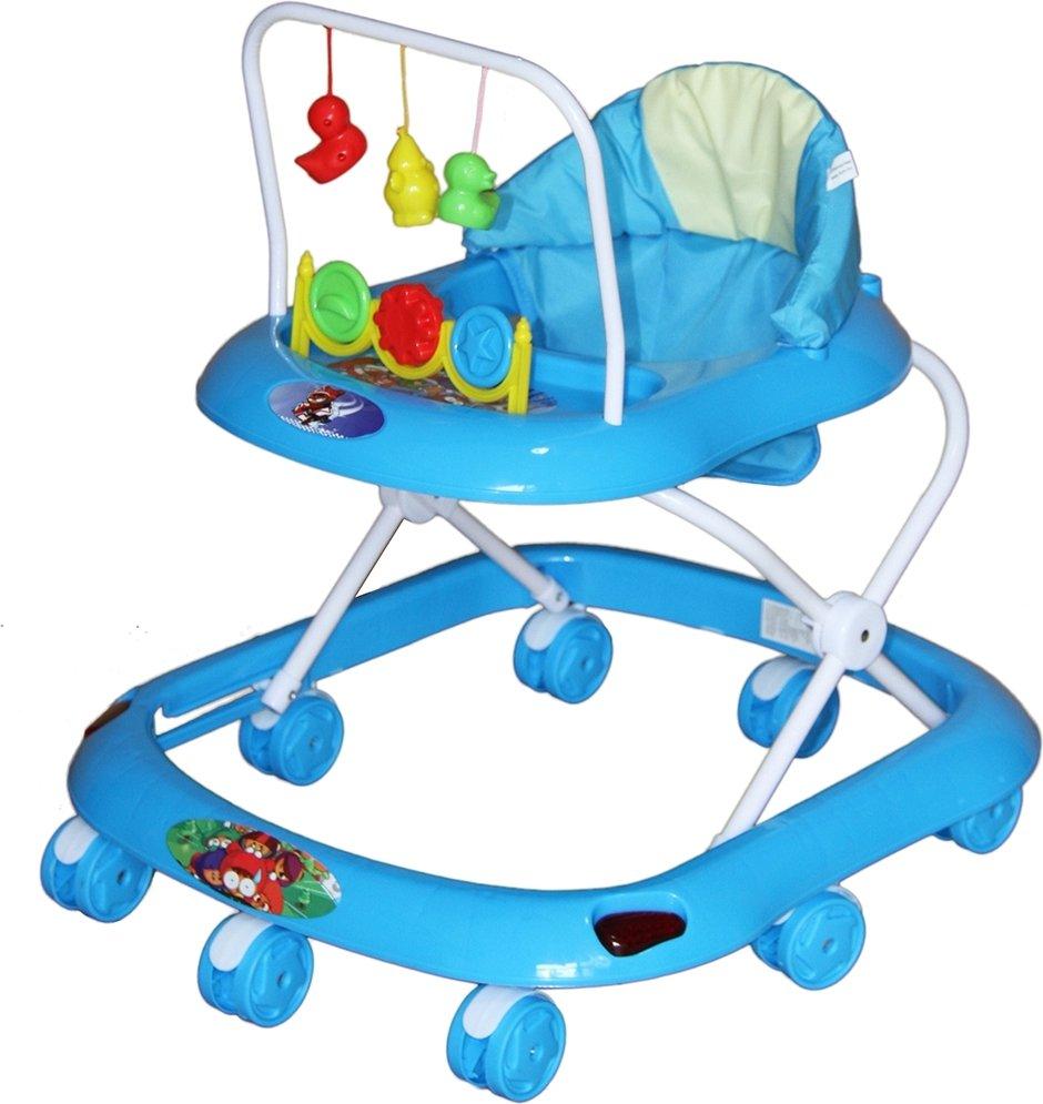 Купить BAMBOLA Ходунки СЧИТАЛКА (8 колес, игрушки, муз) 6 шт в кор (67x60x51) BLUE голубой [SRA18], Ходунки и прыгунки для малышей