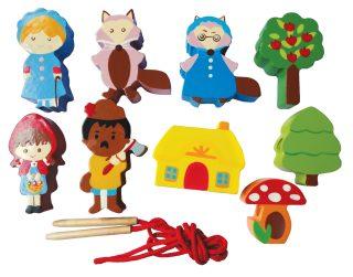 Купить MAPACHA Шнуровка - бусы Красная шапочка [76528], Шнуровки для малышей